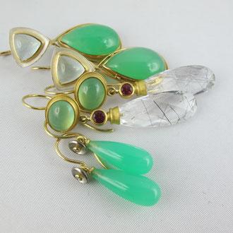 Ohrhänger in grüner Pracht