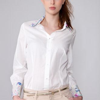Klassiker Bluse, nach einer Farbberatung suchst Du Dir das Stoffmuster für Kragen und Manschetten aus, 139,-€
