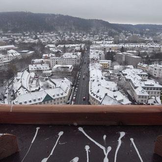 Anflugbrett mit Blick auf die Deutschhausstraße. Foto: Jonas Hagge
