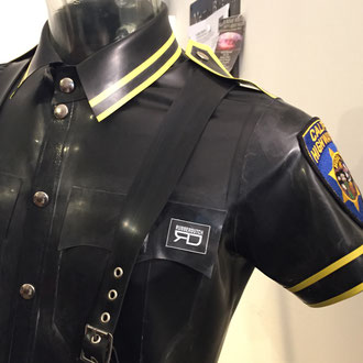 Product nr: MPS01/CY  Mens Rubber Police shirt