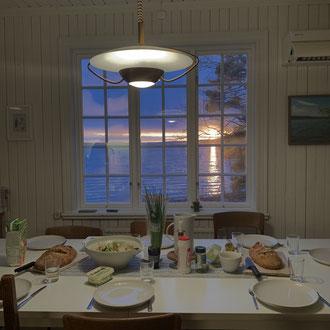 Ausblick aus der Küche in Marieudd