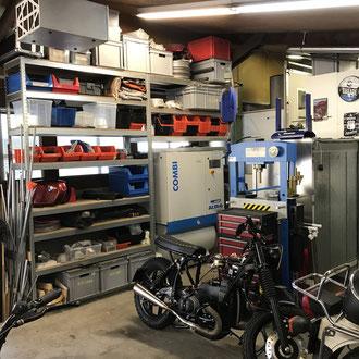 customgarage garage zürich illnau pulverbeschichten motorrad