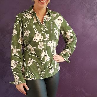 Jerseybluse, Magnolien, sieht aus wie eine Bluse, trägt sich wie ein Shirt, 139,-€