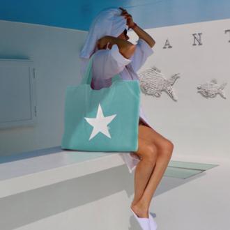 BYRH Sommertasche mit Stern aus Frottee - Türkis