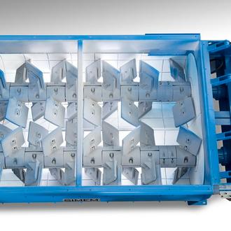 Amasadora Mezcladora SIMEM de flujo continuo para Grava-cemento y Grava-Emulsión