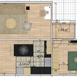 Plan d'aménagement d'un salon à Saint-Denis - Réunion 974