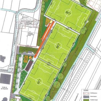Plan der neuen Anlage