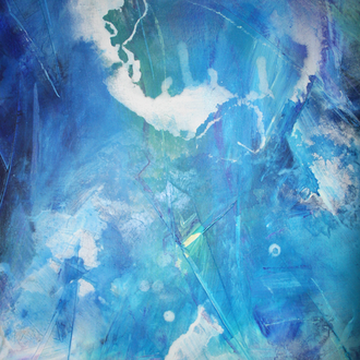 Das große Blau, 80x100, 2008, Acryl auf Leinwand