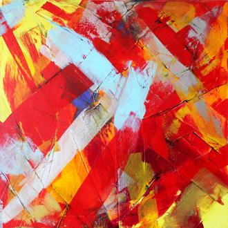 Abstrakt, 60x60cm, Acryl auf Leinwand, 2007