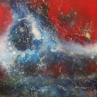 Milky Way Galaxy, 2017, Acryl/Lack auf Leinwand, 70x70cm