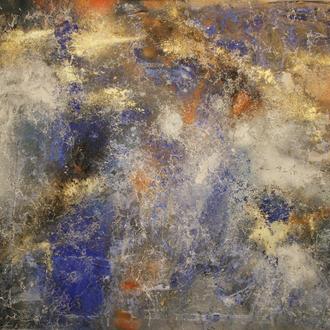 Center of the Milky Way Galaxie (Im Zentrum der Milchstraßen Galaxie) , 2016, Acryl, Lack auf Emaille-Platte, 114,5x99cm