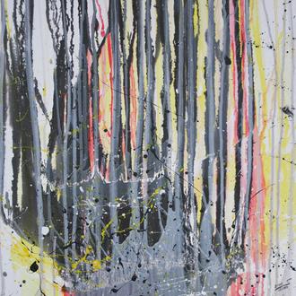 Sommergewitter in Retz, 2008, Acryl auf Malplatte, 50x60