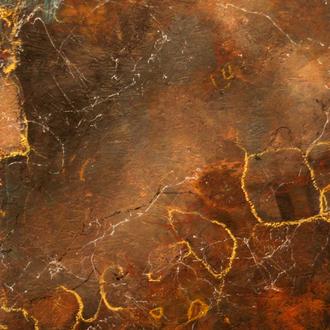 Africa II, Rost, Acryl auf Holz, 40x65 cm, 2018