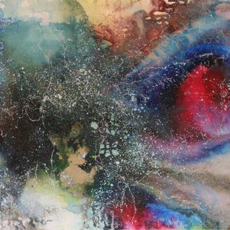 Nebula III, 2017, Acryl/Lack auf Leinwand, 90x70cm