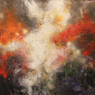 Nebula IV, 130x90 cm, Mixed Media auf Leinwand, 2015