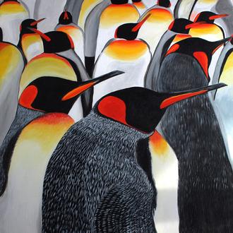Die Kolonie, 80x80, 2009, Motiv copyright: artwork studios, Acryl auf Leinwand
