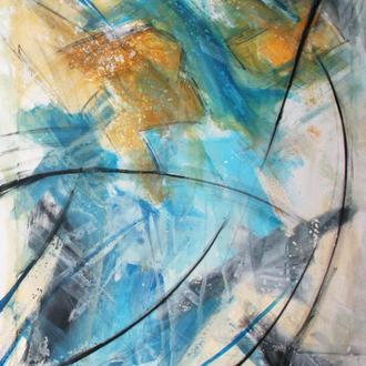 Sternschnuppen, 80x100, 2007, Acryl auf Leinwand