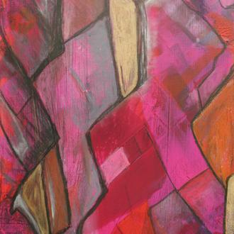 den eigenen Weg gehen, 50x60, 2010, Acryl auf Leinwand