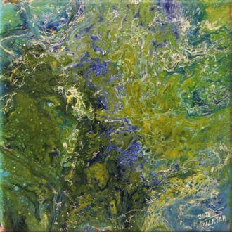 Wetland I, Acryl auf Leinwand, 30x30 cm, 2018