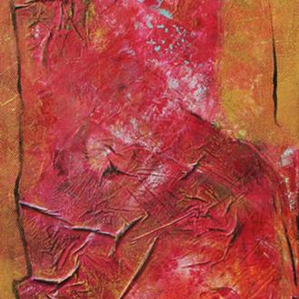 Indien, 20x40, 2008, Acryl auf Leinwand