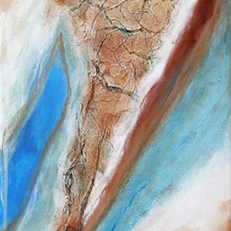 Der Ursprung,Teil 2/2, 40x100, 2009, Acryl auf Leinwand