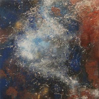 Milky Way Galaxy, 2016, Acryl auf Leinwand, 50x50 cm