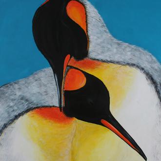 gemeinsam, 80x100, 2010, Motiv copyright: artwork studios, Acryl auf Leinwand