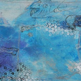 Tiefseemonster, 30x80, 2012, Acryl auf Leinwand