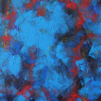 Sommergewitter, 50x60cm,  Acryl auf Leinwand,2006