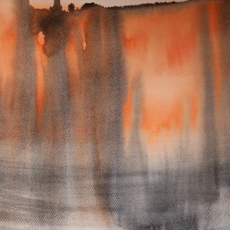 brennender Wald, 30x40, 2008