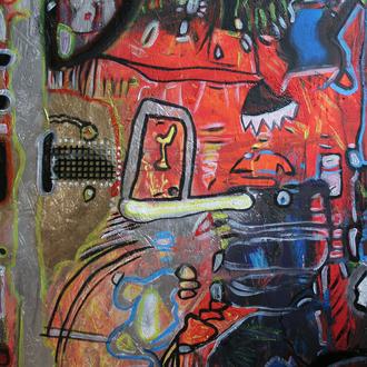 Ein Nachmittag mit Kandinsky in einem Paralleluniversum, 68x103, 2013, Aryl auf Holz