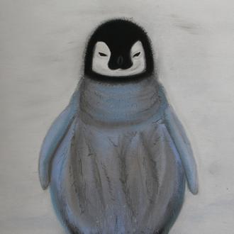"""grumpf, 36x48, 2011, Pastellkreide, Motiv aus Internet: """"brrrr"""""""
