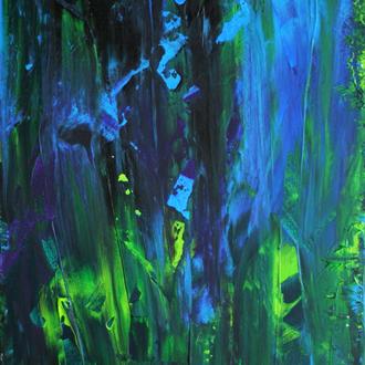 Unterwasserwelt, 30x40cm, Acryl auf Leinwand, 2006