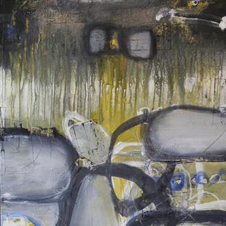 Grau in Grau, Acryl auf Leinwand, 80x100cm, 2017