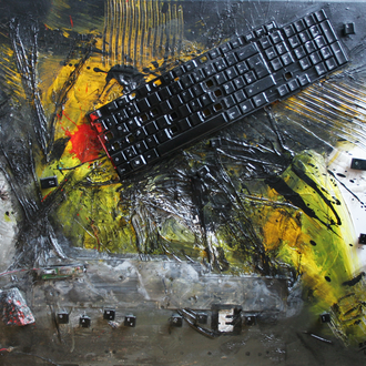 Game over, Mixed Media auf Leinwand, 70x60 cm, 2011