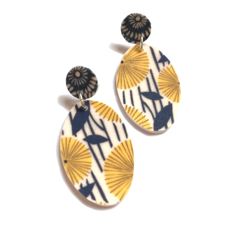 french floral earrings