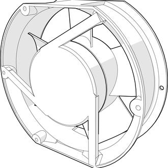 Ventilador de 6.75 pulgadas de diametro