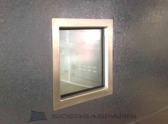 Oblo quadrato in acciaio inox 310x310