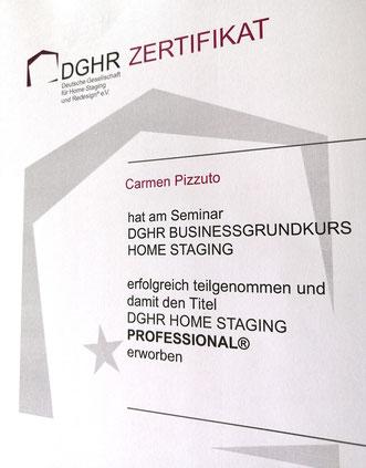 DGHR Zertifikat von Carmen Pizzuto.