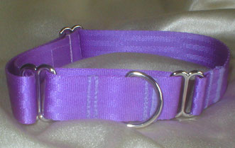 Martingale, Halsband, 2,5cm, Gurtband fliederfarben