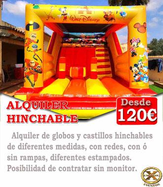 alquiler de hinchables para comuniones en Cadiz