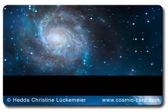 Cosmic-Card blau Rückseite mit Magnetstreifen