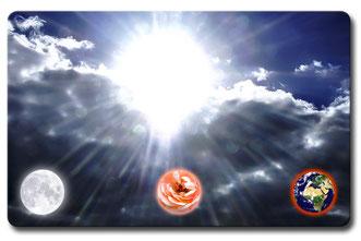 Cosmic-Card blau Vorderseite