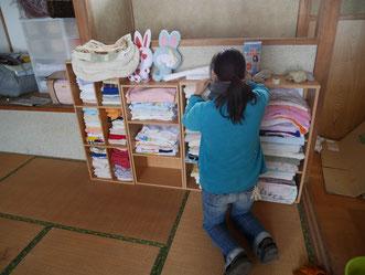 2階は物品庫と泊り部屋!