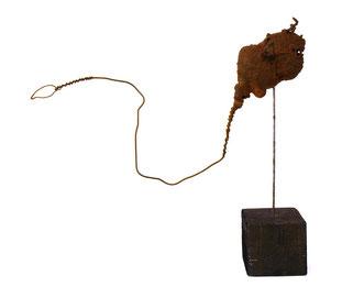 """Entstanden für die """"Urdonau-Ausstellung"""" der Galerie grenzART im Rahmen des Weinviertel-Festivals; Juni 2013: Was wissen wir denn heute schon, was damals so alles rumgeschwommen ist in der Urdonau..."""