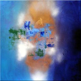 "Burk Art Gemälde ""Azur"", Unikat"