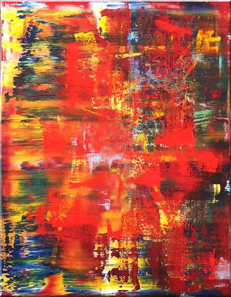 "Burk Art Gemälde ""Behind"", Unikat"