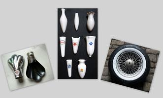 Auspufftatze  Auspuffkralle  Auspuffblende Autovase  Vase Weisswandringe Weißwandringe Zierringe