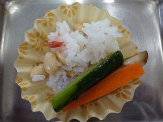 大豆と梅干しのご飯