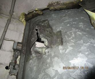 Brandschutzklappe fehlerhaft eingebaut
